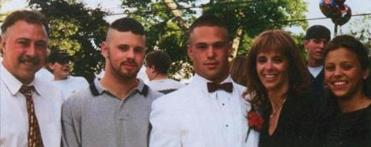 A photo of the Remy family — Jerry (from left), Jared, Jordan, Phoebe, and Jenna — was included on a congratulations page for Jenna in her 2003 yearbook from Weston High School. The photograph was taken around 1999.